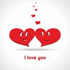 Free Cartoon Hearts Stock Images - 28451664