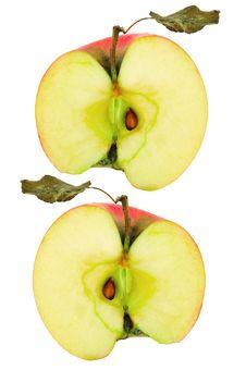 Apple Halves Royalty Free Stock Photo