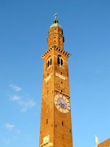 The Clock Tower In Vicenza, Italy Stock Images