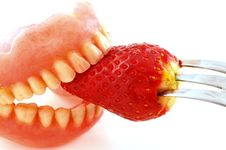 Free Strawberries In The Teeth Stock Photo - 28452750