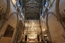 Free Quire Interior St Albans Abbey Royalty Free Stock Image - 28452796