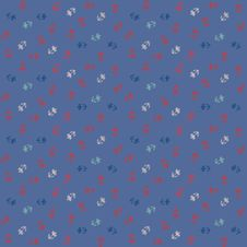 Free Vector Pattern, Little Colorful Flowers On Blue Royalty Free Stock Photo - 28457635