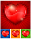 Free Red Heart On Color Royalty Free Stock Photos - 28468258