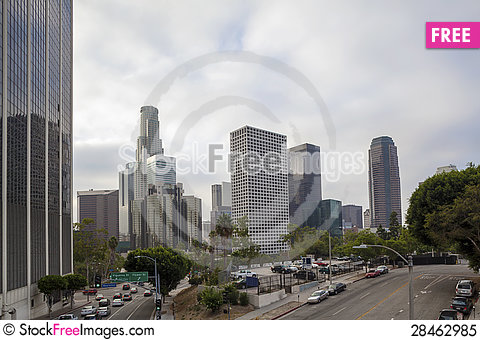 Free Financial District In Los Angeles, CA Royalty Free Stock Photo - 28462985