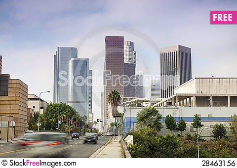 Free Financial District In Los Angeles, CA Royalty Free Stock Image - 28463156