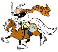 Cartoon Senior Knight Royalty Free Stock Photography
