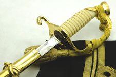 Free Navy Rank Insignia And Sword Stock Photos - 28464033
