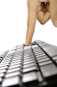Free Hand Typing Keyboard Royalty Free Stock Photo - 28466175