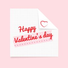 Free Happy Valentines Day Notepad Royalty Free Stock Images - 28466439