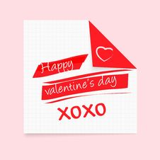 Free Happy Valentines Day Notepad Royalty Free Stock Photos - 28466448