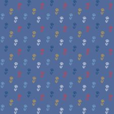 Free Vector Pattern, Little Colorful Flowers On Blue Stock Photos - 28466543