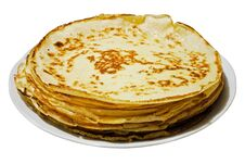 Russian Yeast Pancakes Stock Images