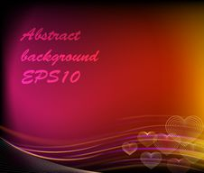 Free Abstract Shiny Hearts Background Stock Photos - 28468463