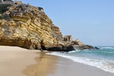 Free Portugal - Beautiful Beach Stock Images - 28468464