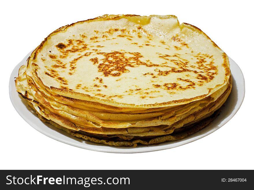 Russian yeast pancakes