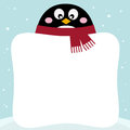 Free Winter Penguin With Blank Stock Photo - 28472500
