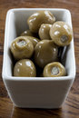 Free Green Olives In A White Bowl Royalty Free Stock Photos - 28473048