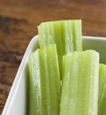 Free Celery Stalks In A White Bowl Royalty Free Stock Photos - 28473828