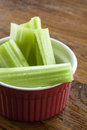Free Celery Stalks In A Red And White Bowl Royalty Free Stock Images - 28473839