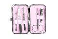 Free Pink Manicure Set,  On White Backgroun Stock Image - 28475541