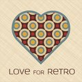 Free Heart With Pattern In Retro Colors Stock Photos - 28478583