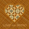 Free Heart With Pattern In Retro Colors Stock Photo - 28478590
