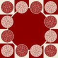 Free Seamless Pattern In Dark Red Colors Stock Photography - 28478752