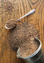 Free Cumin Seeds On Wooden Background Royalty Free Stock Photo - 28478825