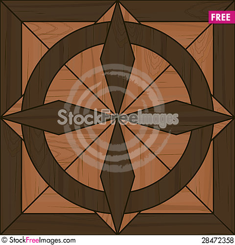 Free Seamless Fancy Parquet Tile Royalty Free Stock Photos - 28472358