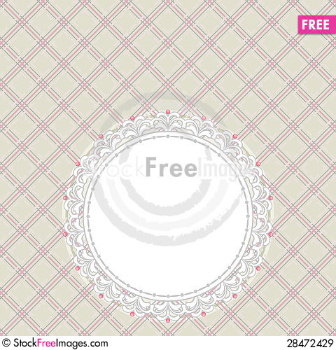 Free Gray And Pink Retro Card Royalty Free Stock Images - 28472429