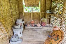 Free Antique Thai Style Kitchen With A Lot Of Earthenware At Bamboo Cottage Royalty Free Stock Image - 28473206