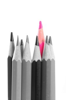 Pink Color Pencils Royalty Free Stock Photography