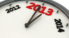 Free 2013 In A Clock In 3d Royalty Free Stock Image - 28476796