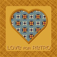 Free Heart With Pattern In Retro Colors Royalty Free Stock Photos - 28478588