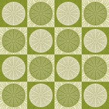 Free Seamless Pattern In Retro Green Colors Royalty Free Stock Photography - 28478757