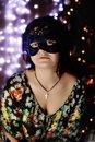 Free The Girl In A Black Mask Stock Image - 28480581