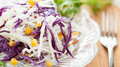 Free Fresh Cabbage Salad And Of Canned Corn Stock Photography - 28483582
