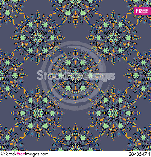 Free Oriental Seamless Texture Stock Images - 28485474