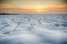 Free Snow Field At Sunset HDR Stock Image - 28480391