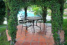 Free Gazebo Pavilion In Resort Garden Royalty Free Stock Images - 28481089