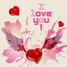Free I Love You Vector Card Royalty Free Stock Photo - 28481565