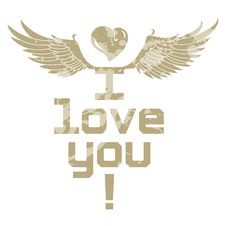 Free I Love You, Lettering Royalty Free Stock Images - 28481569