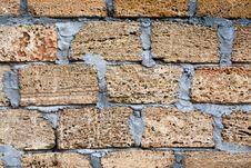 Free Shell Rock Concrete Blocks Wall Stock Photography - 28483692
