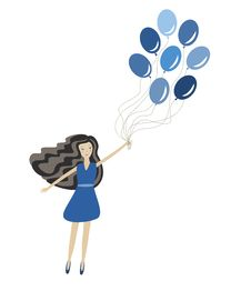 Free Girl With Balloons Royalty Free Stock Images - 28484599