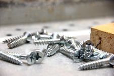 Free Metal Screws On Construction Site Stock Images - 28486174