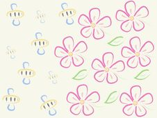 Free Bees And Flowers Stock Photo - 28486460