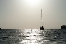 Free Sailboat On Sea In The Sunset Stock Photography - 28486482