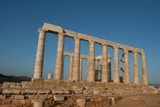 Free The Ancient Ruins. Castle Of Poseidon. Stock Images - 28486494