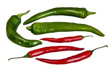 Free Green And Red Peppers Chili Royalty Free Stock Photo - 28488295