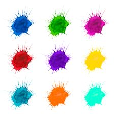 Free Set Of Color Blots Stock Images - 28489164